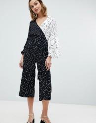 River Island Spot Print Frill Sleeve Jumpsuit - Multi