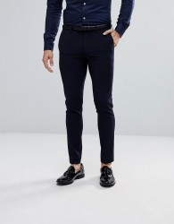 River Island Super Skinny Suit Trousers In Navy - Navy