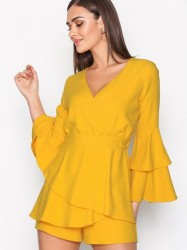 River Island Thalia Dress Playsuits Yellow