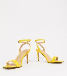 River Island Wide Fit heeled sandals - Yellow