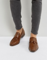 River Island Woven Loafer With Tassels In Tan - Tan