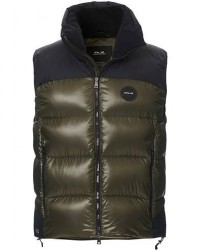 RLX Ralph Lauren Panelled Down Vest Black/Dark Olive men M Grøn