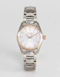 Roamer Watch With Rose Gold Detail Stainless Steel Bracelet - Silver