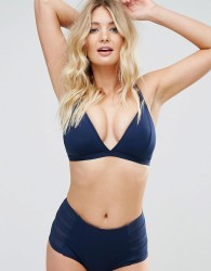 Robyn Lawley Falling For You Multifit Triangle Bikini Top Sizes 10-20 - Navy