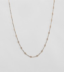 Rock 'N' Rose gold charm chain necklace - Gold