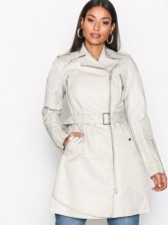 ROCKANDBLUE Aura Superior Cotton Poly Trenchcoats Safari