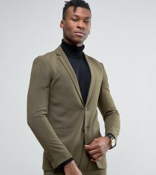 Rogues of London Super Skinny Suit Jacket - Green