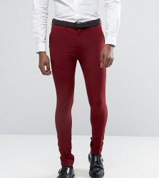 Rogues of London Super Skinny Suit Trousers - Red