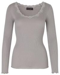 Rosemunde Silk t-shirt ls lace 5369 (Grå, XLARGE)