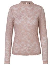 Rosemunde T-shirt Regular LS W/Lace 4229 (Rosa, MEDIUM)