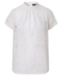 Rosemunde T-shirt Regular ss w/lace 5325 (Offwhite, LARGE)