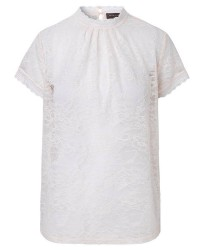 Rosemunde T-shirt Regular ss w/lace 5325 (Offwhite, XLARGE)