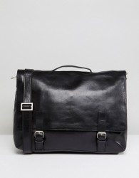 Royal RepubliQ Essential Leather Messenger Bag - Black
