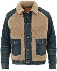 RRL Denim Grizzly Type I Jacket Indigo men S