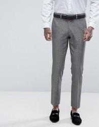Rudie Super Skinny Grey Check Suit Trousers - Grey