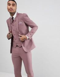 Rudie wedding Pastel Skinny Fit Suit Jacket - Pink