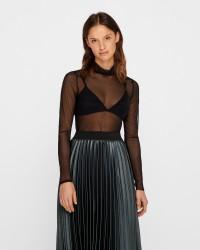 RUE de FEMME Mesh roll bluse