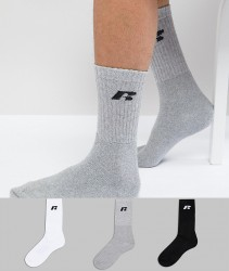 Russell Athletic 3 Pack Sports Sock - Multi