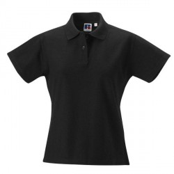 Russell Athletic F 100% Cotton Durable Polo - Black * Kampagne *