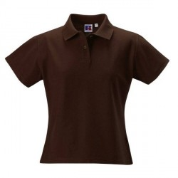 Russell Athletic F 100% Cotton Durable Polo - Brown * Kampagne *