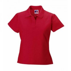 Russell Athletic F 100% Cotton Durable Polo - Red * Kampagne *