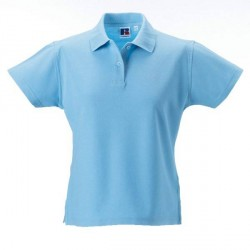 Russell Athletic F 100% Cotton Durable Polo - Skyblue * Kampagne *
