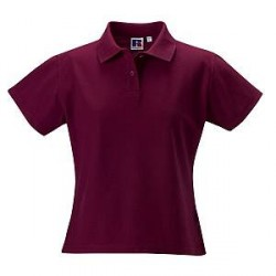 Russell Athletic F 100% Cotton Durable Polo - Wine red - Large