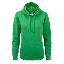 Russell Athletic Ladies Authentic Hooded Sweat - Green - X-Small