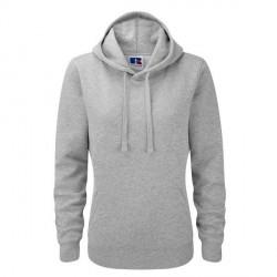 Russell Athletic Ladies Authentic Hooded Sweat - Greymarl * Kampagne *