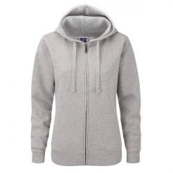 Russell Athletic Ladies Authentic Zipped Hood - Greymarl * Kampagne *