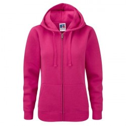 Russell Athletic Ladies Authentic Zipped Hood - Pink * Kampagne *