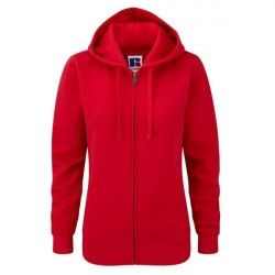 Russell Athletic Ladies Authentic Zipped Hood - Red * Kampagne *