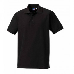 Russell Athletic M 100% Cotton Durable Polo - Black * Kampagne *