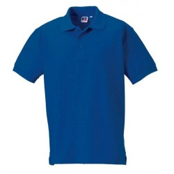 Russell Athletic M 100% Cotton Durable Polo - Blue * Kampagne *