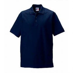 Russell Athletic M 100% Cotton Durable Polo - Darkblue - Large