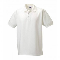 Russell Athletic M 100% Cotton Durable Polo - White * Kampagne *