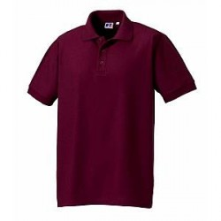 Russell Athletic M 100% Cotton Durable Polo - Wine red - X-Large