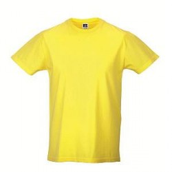 Russell Athletic Mens Slim Fit T - Yellow - Small