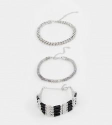 Sacred Hawk 3 pack bracelet - Silver
