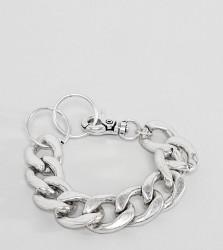 Sacred Hawk chunky chain bracelet - Silver