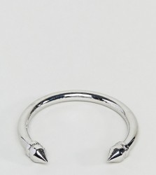Sacred Hawk Double Spike Bangle - Silver