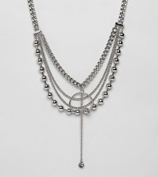Sacred Hawk Heavy Chain Necklace - Silver