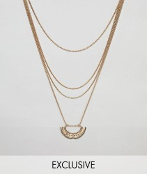 Sacred Hawk horseshoe layering necklace multipack - Gold