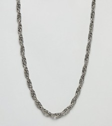 Sacred Hawk twist chain necklace - Silver