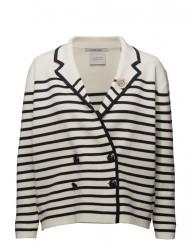 Sailor Inspired Cardigan In Stripes