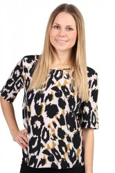 Saint Tropez - Bluse - Animal Printed Top - P1167 - P. Mauve