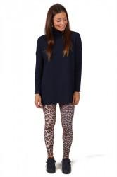 Saint Tropez - Bluse - Roll Neck Sweater - Blue D.