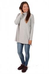 Saint Tropez - Bluse - Roll Neck Sweater - C. Grey