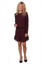 Saint Tropez - Kjole P6146 - Dress With Smock At Waist - Wine
