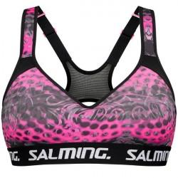 Salming Gloria Sculpted Sports Bra - Black/Pink * Kampagne *